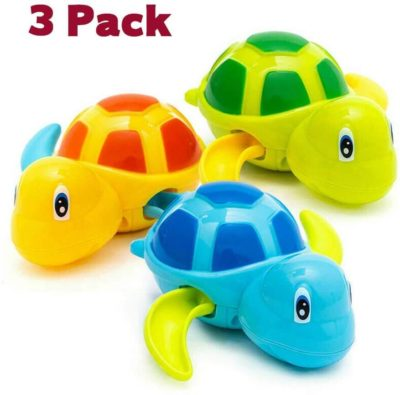 Image of HEMRLY Baby Bath Toys,Baby Bathtub Wind Up Turtle Toys, Cute Fun Multi Colors Floating Bath Animal Toys for Kids Toddlers, Child Pool, Swimming Clockwork Water Toys for Boys and Girls-[3 Pcs]