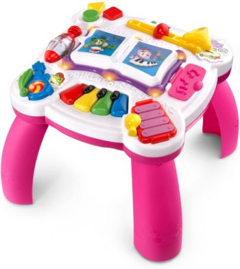 This is an image of LeapFrog Learn & Groove Musical Table (Frustration Free Packaging), Pink, Great Gift for Kids, Toddlers, Toy for Boys and Girls