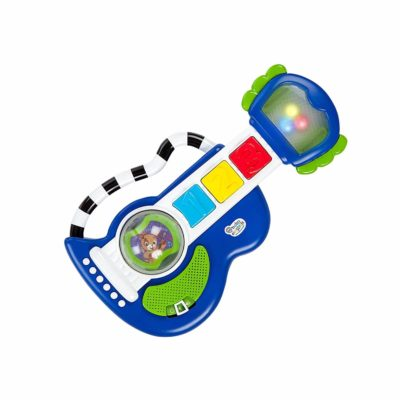This is an image of Baby Einstein Rock, Light & Roll Guitar Musical Toy, Ages 3 Months +