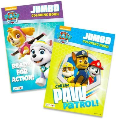 This is an image of Paw Patrol Coloring Books - 2 Pack