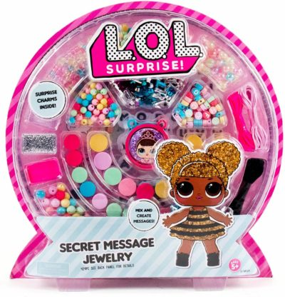 This is an image of L.O.L. Surprise! Secret Message Jewelry by Horizon Group Usa, DIY Jewelry Making Craft Kit