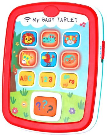 This is an image of Infant Toys Baby Tablet Toys Learning Educational Toy for 6 12 18 Month Old Boys and Girls with Music Light ABC Numbers Color Games Baby Toys