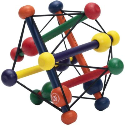 This is an image of Manhattan Toy Skwish Classic Rattle and Teether Grasping Activity Toy
