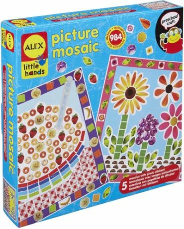 This is an image of Alex Little Hands Picture Mosaic Kids Toddler Art and Craft Activity