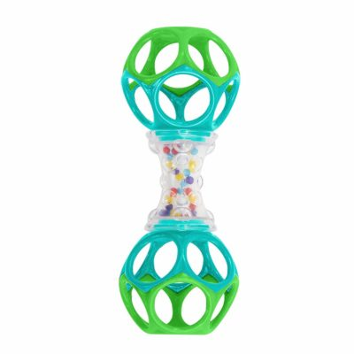 This is an image of Bright Starts Oball Shaker Rattle Toy, Ages Newborn +