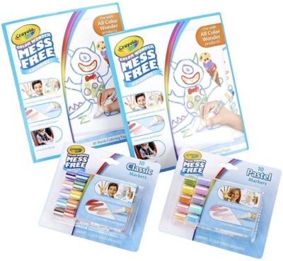 This is an image of Crayola Color Wonder Mess Free Coloring Kit, 80pc, Toddler Toys