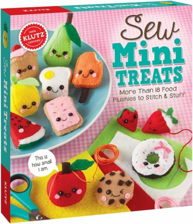 This is an image of Klutz Sew Mini Treats: More Than 18 Food Plushies to Stitch & Stuff, Craft Kit