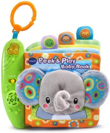 This is an image of VTech Peek & Play Baby Book Toy
