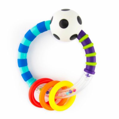 This is an image of Sassy Ring Rattle | Developmental Baby Toy for Early Learning | High Contrast | For Ages Newborn and Up