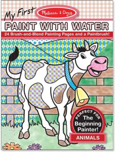 This is an image of Melissa & Doug My First Paint With Water Coloring Book: Animals