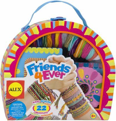 This is an image of Alex DIY Friends Forever Bracelet Kit Kids Art and Craft Activity