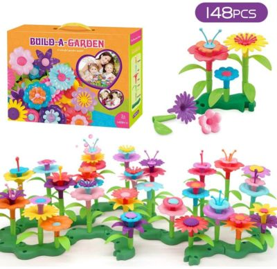 This is an image of GEMEM Flower Garden Building Toys for 3, 4, 5, 6 Year Old Boy Girls
