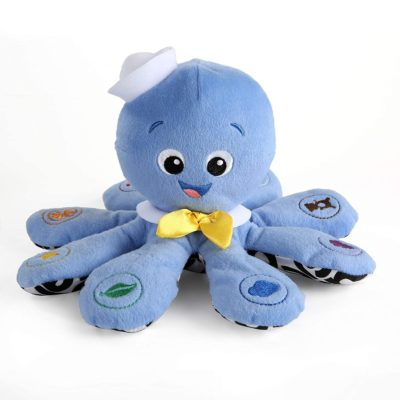 This is an image of a musical octopus plush baby toy.