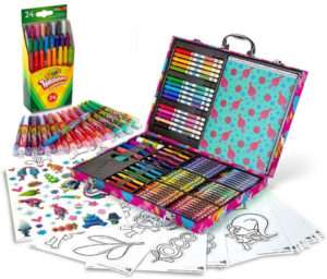 this is an image of a crayola trolls art box