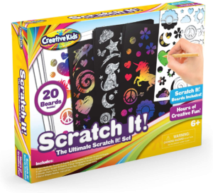 this is an image of a scratch art set