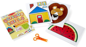 this is an image of a melissa & doug scissor activity pad