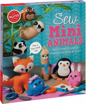 This is an image of Klutz Sew Mini Animals Sewing & Craft Kit