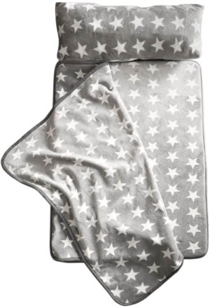 Image of Milliard -Memory Foam- Nap Mat Roll Stars with Fuzzy Blanket and Removable Pillow, Machine Washing for Toddler Daycare Preschool Kindergarten and Sleepovers