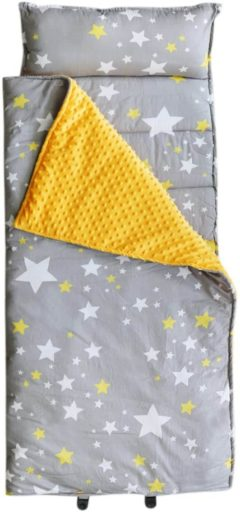 Image of Hi Sprout Kids Toddler Lightweight and Soft Nap Mat- Minky Dot& Cotton-Stars