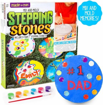 Image of Made By Me Mix & Mold Your Own Stepping Stones by Horizon Group USA, Make 4 DIY Personalized Stepping Stones, Molding Tray