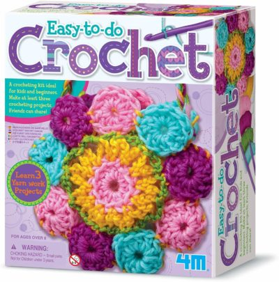 Image of 4M 3625 Easy-To-Do Crochet Kit - DIY Arts & Crafts Yarn Gift for Kids & Teens, Boys & Girls