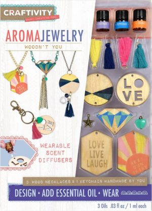 Image of CRAFTIVITY AromaJewelry - Woodn't You - Essential Oil Jewelry Making Kit