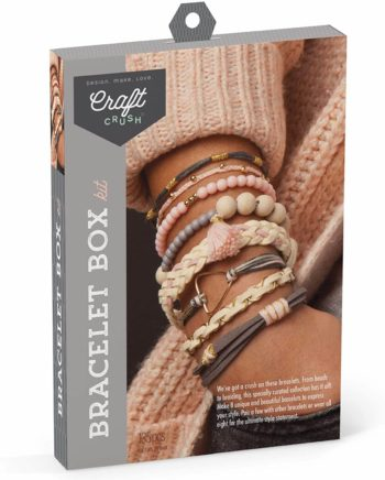 This is an image of Craft Crush Diy Bracelet Craft Kit - Blush