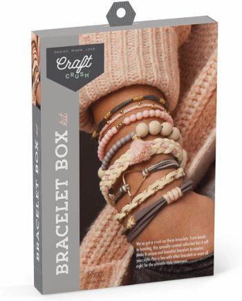 This is an image of Craft Crush Diy Bracelet Craft Kit - Blush