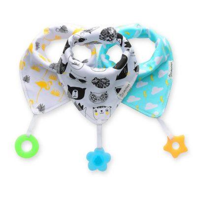 Image of Bandana Bibs with Teething Toys