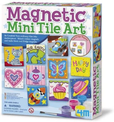 This is an image of a do yourself magnetic tile art set for 8 year old kids.