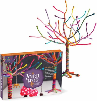 "Image of Craft-tastic - Yarn Tree Kit - Craft Kit Makes One 18"" Tall Jewelry Organizer"