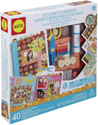 This is an image of a scrapbook making kit for kids.