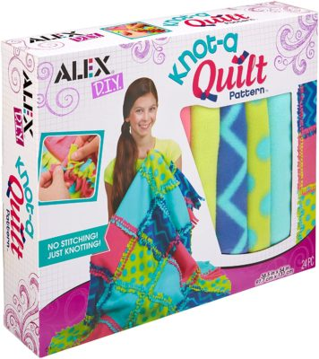 This is an image of a DIY quilt making kit for teens.
