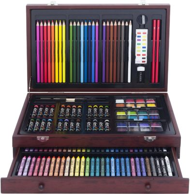 This is an image of a 179-piece easel art set for teens.