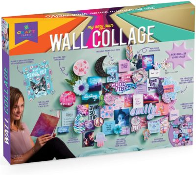 This is an image of a personalize wall collage art and craft kit for teenagers.