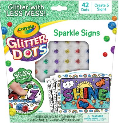 This is an image of a sparke sign craft kit with 42 glitter dots.