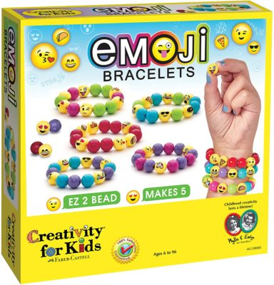 This is an image of an emoji bracelet jewelry making kit.