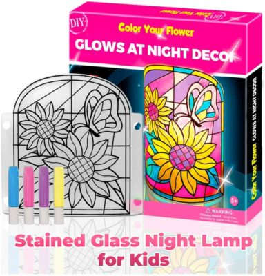 This is an image of a do it yourself lamp kit for eight year old girls.