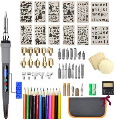 This is an image of a wood burner and carving tool kit for teens.