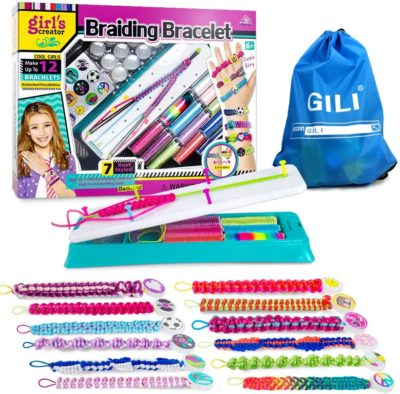 This is an image of a DIY jewelry making kit for 8 year old girls.