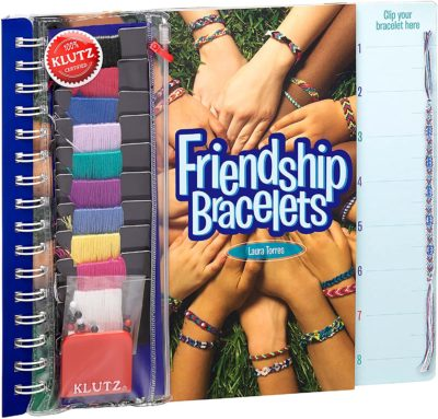 This is an image of a bracelet making kit for 8 years old.