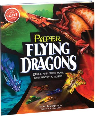 This is an image of a paper dragon art kit for 8 year old kids.