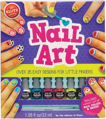 This is an image of a nail art kit for 8 year old girls.