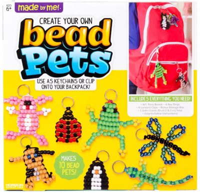 This is an image of a DIY bead keychain making set for kids.