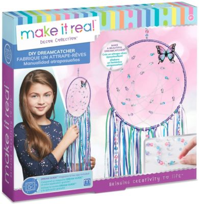 This is an image of a DIY dream catcher craft kit for 8 year old girls.