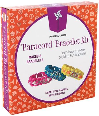 This is an image of a diy bracelet making craft kit for 8 years old kids.