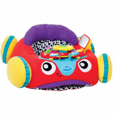 This is an image of a colorful music and light plush toy for babies.