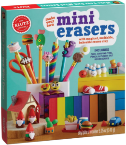 this is an image of a klutz eraser making kit