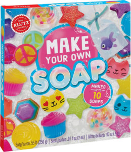 this is an image of a klutz soap kit