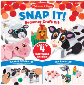 this is an image of the melissa & doug snap it craft kit